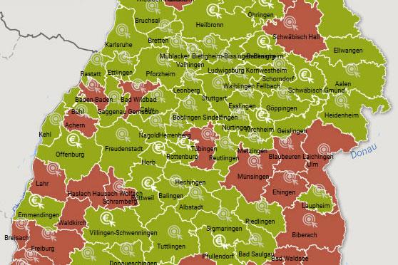 Corona Ortenaukreis Karte